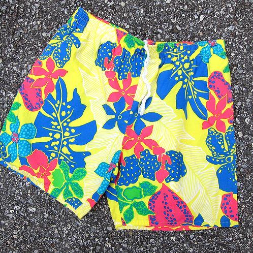 90s Jordache Floral Cotton Shorts - S