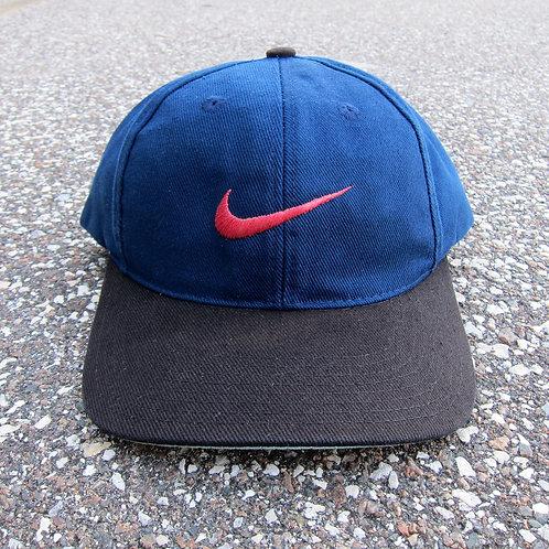 90s Nike Navy & Black Snapback Hat