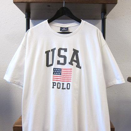 90's Polo Sport White USA Tee - XL