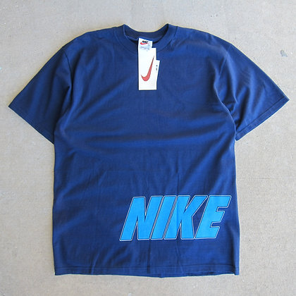 90s Nike Navy Double Sided Tee - L