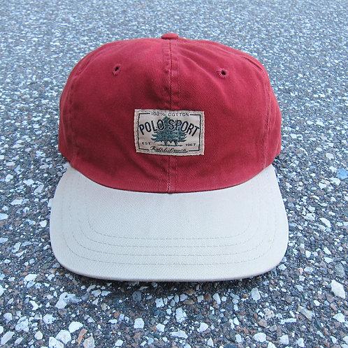 90s Polo Sport Brick & Cream Pine Tree Hat