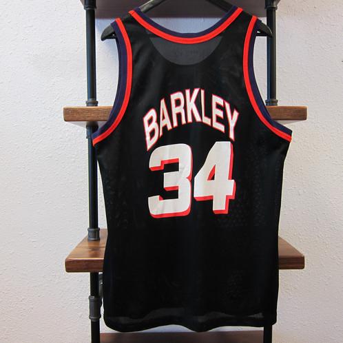 3bba55f4 90s Charles Barkley Champion Black Suns Jersey - 44