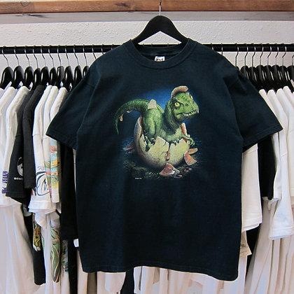 90s Baby T-Rex Dino Tee - L