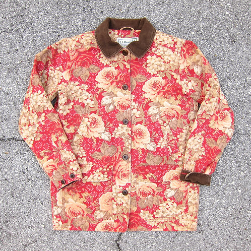 90s L.L. Bean Floral Barn Jacket - M