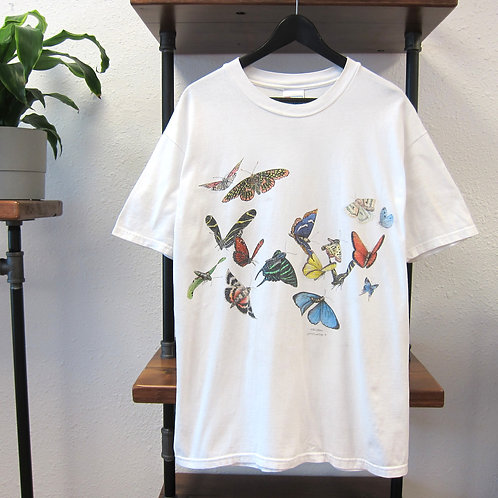 90s Butterfly Double Sided Tee - L
