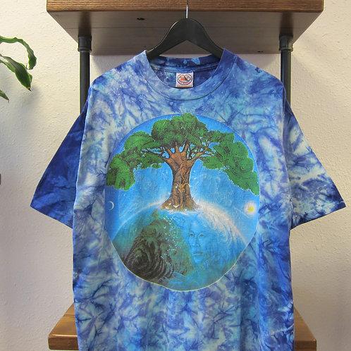 90s Mother Earth Tie Dye Tee - XL