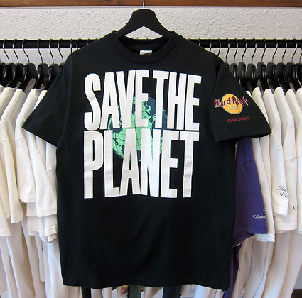 90's Save The Planet Hard Rock Chicago Tee - L