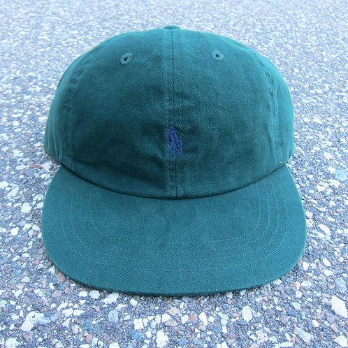 90s Polo Ralph Lauren Dark Green 6 Panel Hat