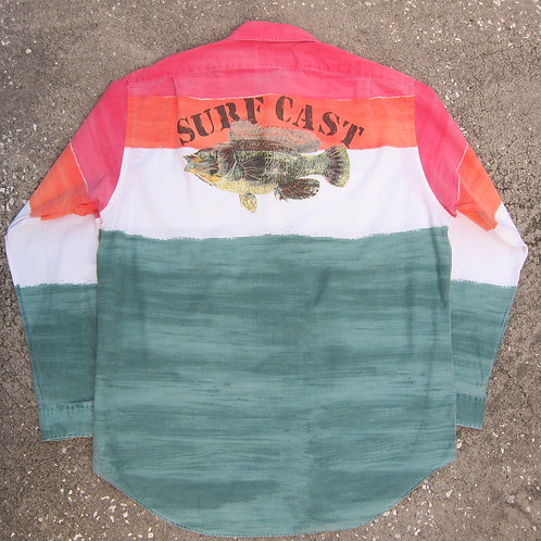 Early 90s Polo Ralph Lauren Fade Stripe Surf Cast Shirt - XL/XXL