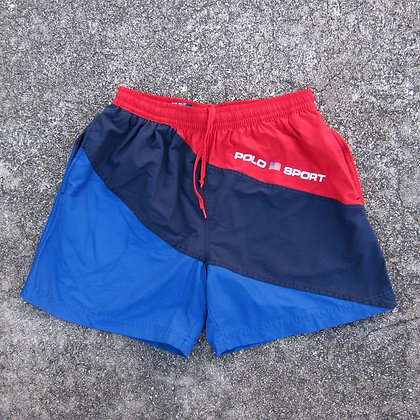 90s Polo Sport Colorblock Water Shorts - M