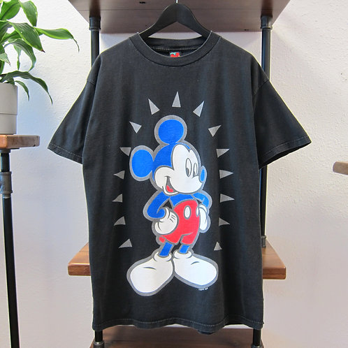 90s Mickey Mouse Jerry Leigh Black Graphic Tee - XL
