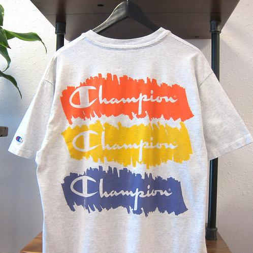 90s Champion Paint Brush Graphic Tee - L