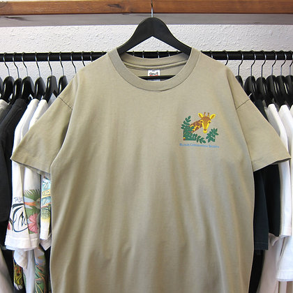 90's Giraffe Wildlife Conservation Society Tee - XL