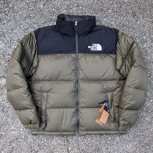The North Face Olive 600 Fill Nuptse Jacket - M