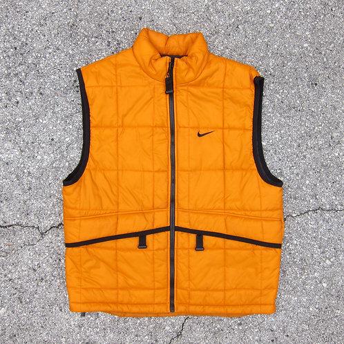 90s Nike Acg Burnt Orange Bubble Vest - L