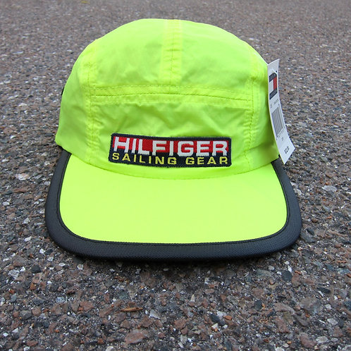 90s Tommy Hilfiger Sailing Gear Neon Nylon 5 Panel Hat