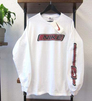 90s Nike White Long Sleeve Tee - M/L