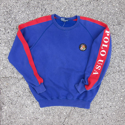 "Early 90s Polo RL ""Cookie Crest"" Crewneck - M/L"