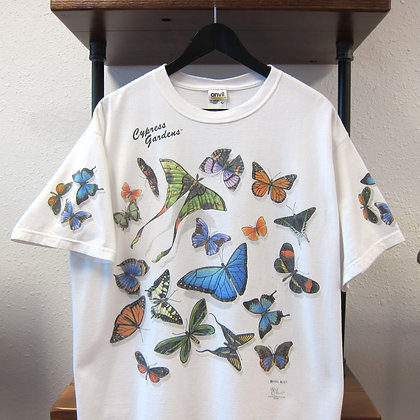 2000 Butterfly All Over Tee - L