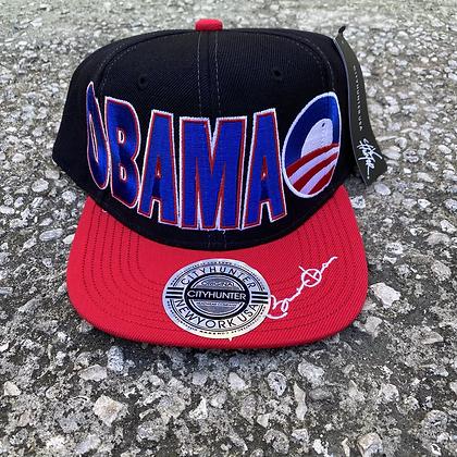 2000s Obama SnapBack (Red Brim)