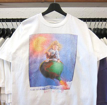 90's Earth Love It Or Lose It Art Tee - M
