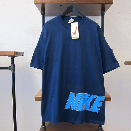 90s Nike Navy Front & Back Graphic Tee - XL
