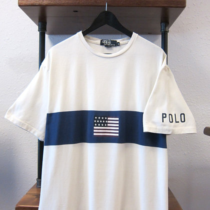 90's Polo RL Flag Tee - M/L
