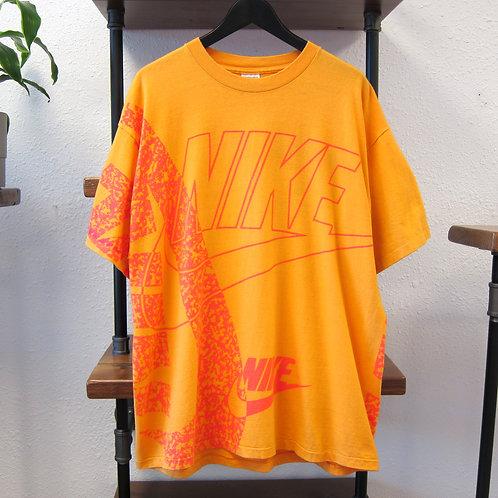 90s Nike Tangerine All Over Print Tee - XL