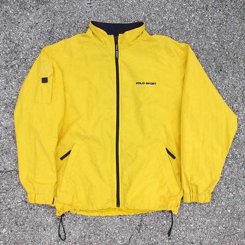 90s Polo Sport Yellow Nylon Windbreaker - L/XL
