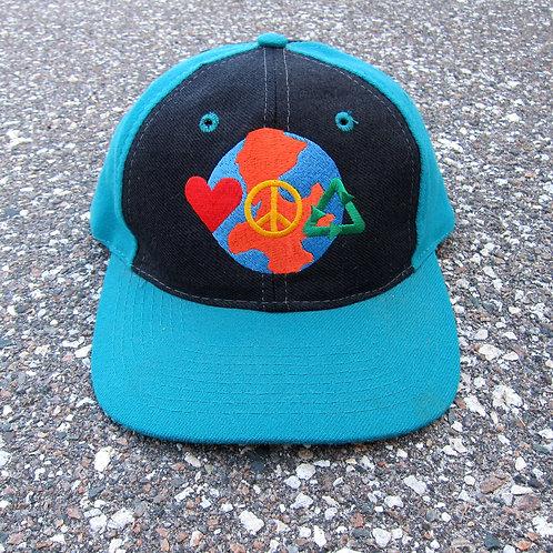 90s Street Noyz Love. Peace. Recyle. Snapback Hat