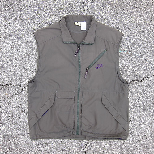 Early 90s Nike Acg Olive Tech Vest - M