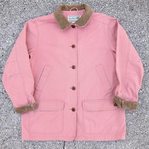 90s L.L. Bean Coral Cotton Barn Jacket - M/L