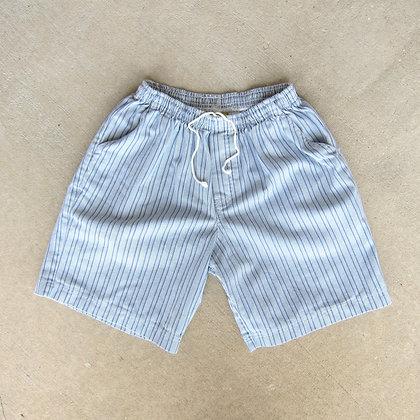 90s Striped Cotton Shorts - L
