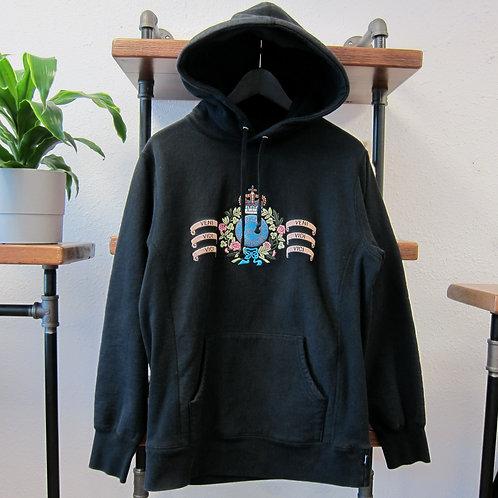 Supreme Black Crest Hoodie - M