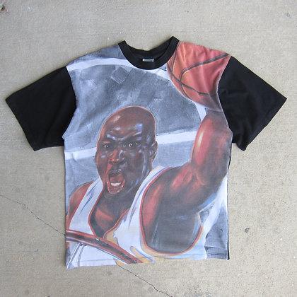 90s Nike Air Jordan All Over Print Tee - L