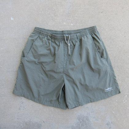 Columbia Sportswear Safari Green Nylon Water Shorts - L