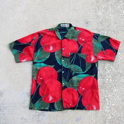 80s Cherry Shirt - M/L