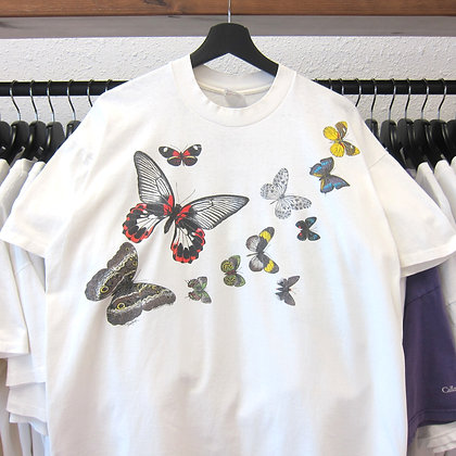 90's Butterfly Wrap around Tee - L/XL