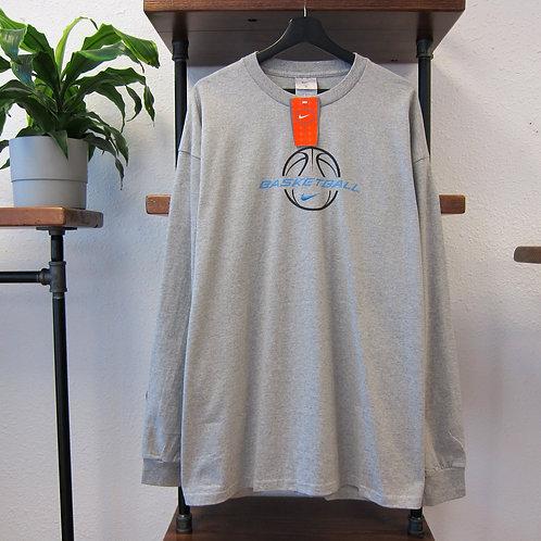90s Nike Basketball Grey Long Sleeve Tee - XL/XXL
