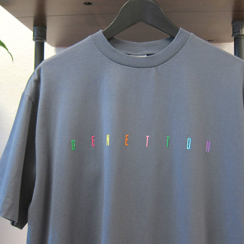 90s Benetton Embroidered Tee - L