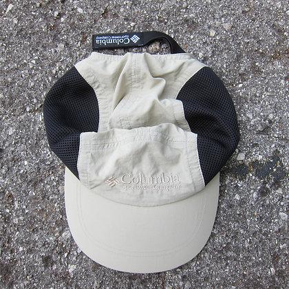 90s Columbia Beige Nylon & Mesh 5 Panel Hat