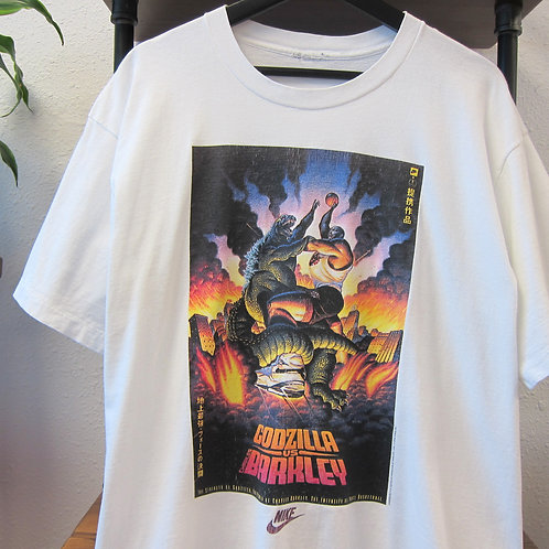'92 Nike Barkley vs Godzilla White Tee - L/XL