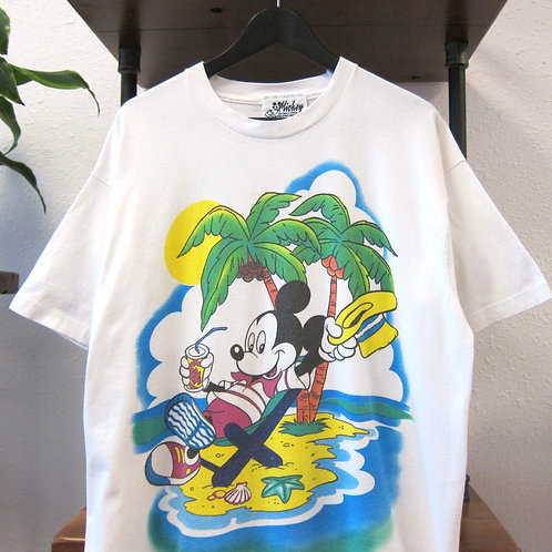 90s Mickey Mouse Tropical Island Jerry Leigh Tee - XL
