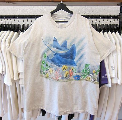 90's Sting Ray And Ocean Reef Tee - XL