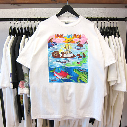 90's Live And Let Live Water Nature Tee - L/XL