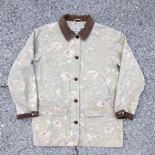 90s L.L. Bean Floral Barn Jacket - M/L