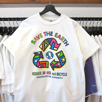 90's Save The Earth Recycle Tee - M/L