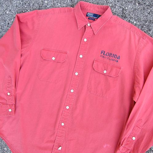 Early 90s Polo Ralph Lauren Florida Salmon Shirt - XL/XXL