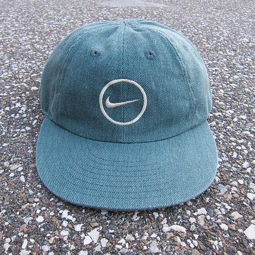 90s Nike Green Denim 8 Panel Hat
