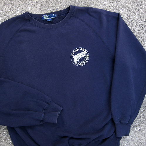 Early 90s Polo Ralph Lauren Catch & Release Crewneck - L